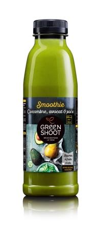 Green Smoothie concombre avocat et poire